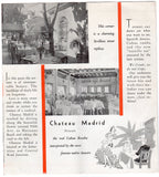 Chateau Madrid Havana Cuba Night Club Vintage Graphic Advertising Brochure