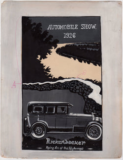 Rickenbacker Motor Car Original WAC Artist Automobile Advertising Painting 1926