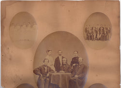 Lowell Massachusetts High School Teachers & Students Antique Photos on Board 1867
