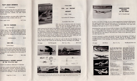Aero Publishing Aviation and Space Travel Books Vintage 1960s Advertising Flyer