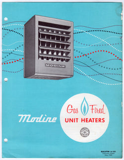 Modine Gas Heaters Vintage 1960s Industrial Graphic Advertising Brochure