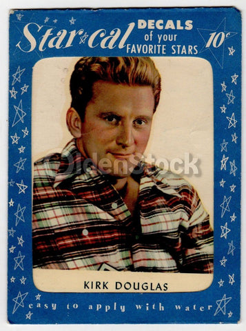 Kirk Douglas Spartacus Movie Actor Vintage Transfer Sticker Decal