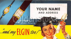 Elgin Watches Graduation Gifts Vintage Graphic Advertising Price List Flyer