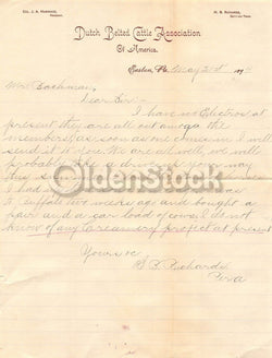 Dutch Belted Cattle Association of America Antique Farm Advertising Letter 1894