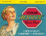 Bestyette Human Hair Net Vintage Women's Fashion Graphic Advertising