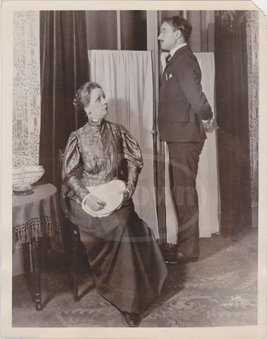 ALMA KRUGER & HAROLD MOULTON CBS TELEVISION PLAY ANTIQUE NEWS PRESS PHOTO 1930 - K-townConsignments