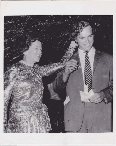 Rose Kennedy with Grandson Joseph Kennedy III at Rally Vintage News Press Photo - K-townConsignments