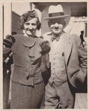 JUDGE GEORGE FLOOD & HIS WIFE ABOARD UNION LINES SHIP ANTIQUE NEWS PRESS PHOTO - K-townConsignments