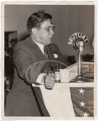 WENDELL WILLKIE ANTI-NEW DEAL PRESIDENTIAL CANDIDATE VINTAGE NEWS PRESS PHOTO - K-townConsignments