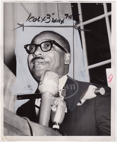 LOUIS LOMAX AFRICAN AMERICAN TV JOURNALIST VINTAGE NEWS PRESS PHOTO 1964 - K-townConsignments