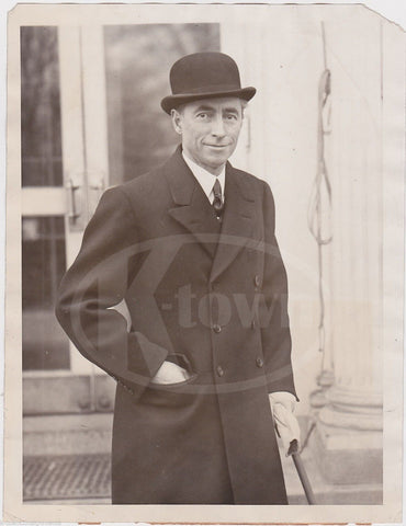 HUGH GIBSON FOREIGN MINISTER TO SWITZERLAND UNDER COOLIDGE NEWS PRESS PHOTO 1927 - K-townConsignments
