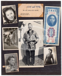 Shanghai China WWII Brothel Prostitution House Calling Card Snapshot Photos Lot
