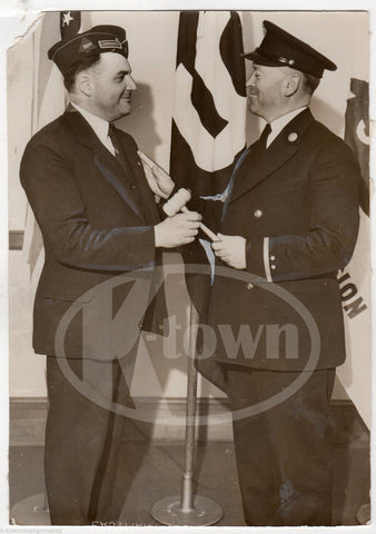 OTTO HINTERMAN 91st DIVISION ASSOCIATION PRESIDENTS VINTAGE PRESS PHOTO 1933 - K-townConsignments