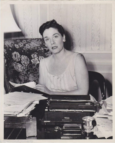 JEAN McCARTHY SENATOR'S WIFE POLITICAL LETTERS VINTAGE 1950s PRESS PHOTO - K-townConsignments