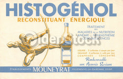 Histogenol French Quack Medicine Tonic Antique Graphic Advertising Ink Blotter