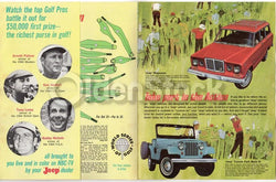 Arnold Palmer 1964 Masters Golf Winner Vintage Jeep Dealership Advertising Flyer