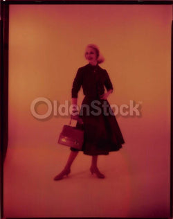 314b3a7e876 Lovely Blonde Fashion Model in Plaid Skirt Vintage Clothing 1960s  Advertising Photo Negative