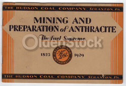 Hudson Coal Company Scranton Lackawanna PA Anthracite Antique Graphic Advertising Book