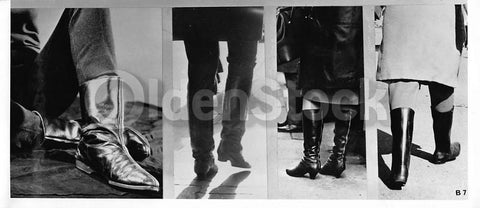 e2f7d0331d3 Black Leather Boots VIntage 1960s Women s Fashion Model Boots Photo Display