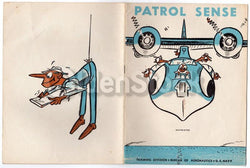 Patrol Sense Vintage Graphic Illustrated WWII Air Force Training Book 1943