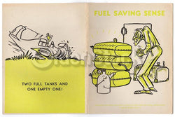 Fuel Saving Sense Vintage Graphic Illustrated WWII Air Force Training Book 1943