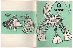 G Force Sense Vintage Graphic Illustrated WWII Air Force Training Book 1943