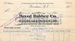 Davol Rubber Medical Supply Providence Rhode Island Antique Advertising Letter 1892