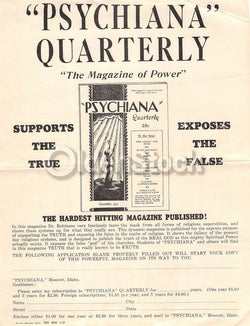 Psychiana Quack Religion Fringe Christianity Antique Advertising Poster Papers lot