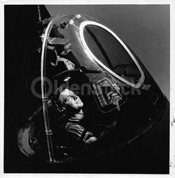 WWII Bomber Plane Gunner Macdill Field Florida Vintage 1950s Air Corps Photo