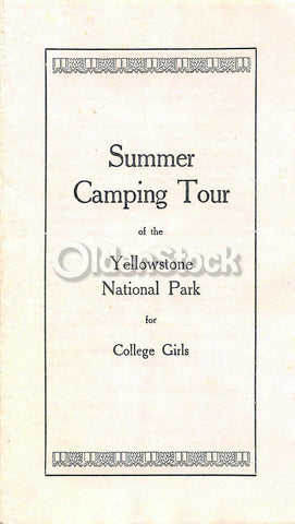 Vassar College Girls Geology Yellowstone National Park Tour Antique Advertising Flyer