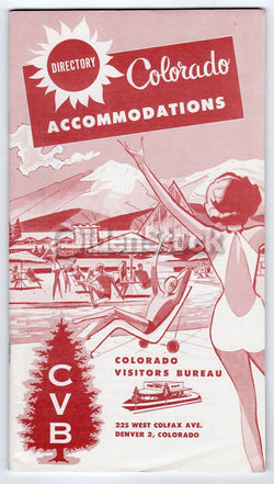 Colorado Vacations Hotel Accommodations Vintage Travel Advertising Booklet