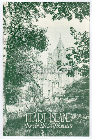 Heart Island Bolt Castle Towers Vintage Graphic Advertising Travel Brochure