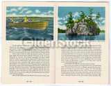 Thousand Islands New York Vintage 1940s Graphic Advertising Travel Brochure