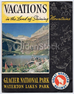 Glacier National Park Vintage 1930s Great Northern Railway Graphic Advertising Booklet