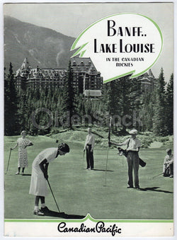 Banff Lake Louise Canadian Pacific Rocky Mountains Antique Graphic Advertising Brochure