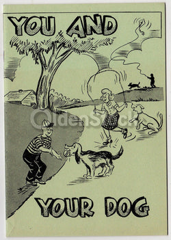 You & Your Dog Vintage Graphic Illustrated Humane Society Educational Book