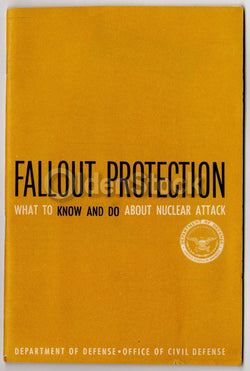 Nuclear Attack Fallout Prevention Vintage Cold War Civil Defense Guide Book