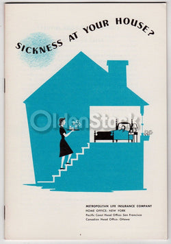 Sickness in Your Home Vintage MET Life Insurance Medical Health Advertising Booklet