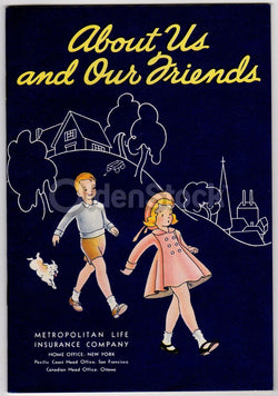 About Us & Our Friends Vintage 1950s Graphic Illustrated Educational Booklet