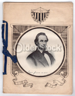 President Abraham Lincoln Antique Folk Art Educational Biography History Book 19