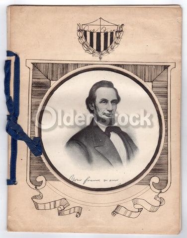 President Abraham Lincoln Antique Folk Art Educational Biography History Book 1919