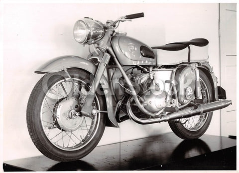 Adler 350CC Motorcycle Original Vintage Advertising Photo 1957