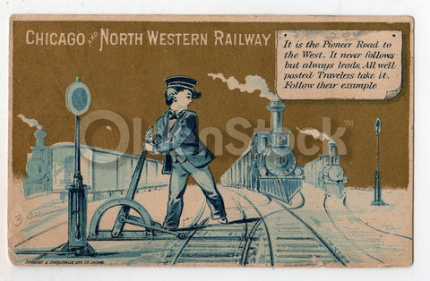 Chicago Northwestern Railway Train Switch Conductor Antique Trade ...