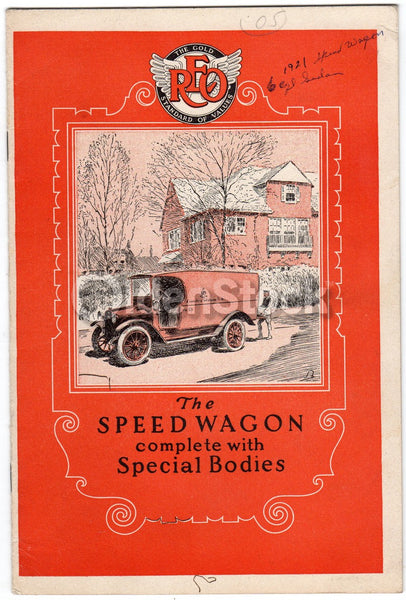 REO Speedwagon Hearse Ambulance Fire Truck Antique Graphic Advertising Booklet