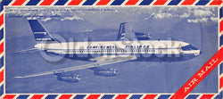 Continental Airlines Look Magazine Air Mail Vintage Graphic Advertising Postal Cover