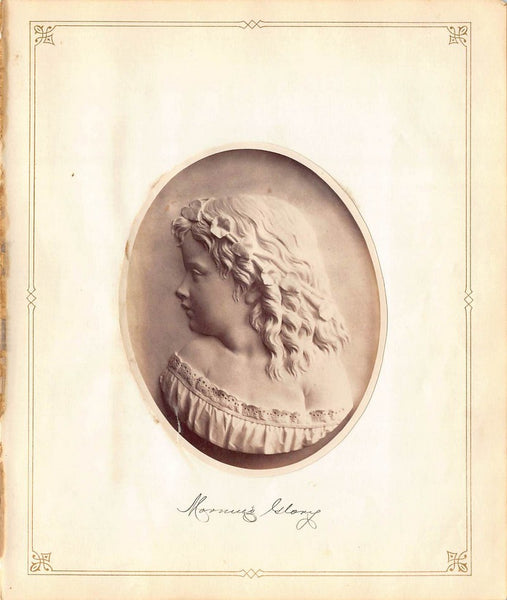 John Adams Jackson Morning Glory Relief Sculpture Antique Albumen Print Photo c.1900