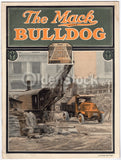 The Mack Bulldog WWI Service Trucks Antique Graphic Advertising Brochure 1921