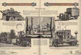 Mack Trucks Bulldog WWI Service Trucks Antique Graphic Advertising Brochure 1921