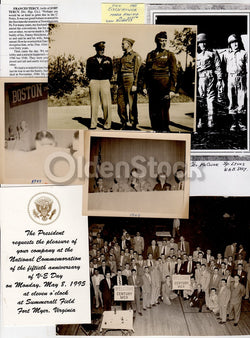 WWII 100th Infantry Division General Withers Burress Original Photos Ephemera lot