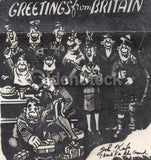 Greetings from Britain WAC Women in Military Vintage WWII Graphic V-Mail Letter